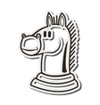 knight chess piece icon vector image