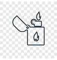 lighter concept linear icon isolated on vector image