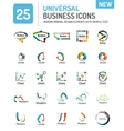 Logo collection abstract geometric business icon vector image