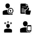 meeting workplace business communication glyph vector image vector image