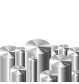 metal cylinders on white vector image