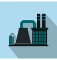 Mining processing plant flat icon vector image