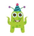 monster cartoon with party hat isolated icon vector image vector image