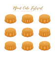 mooncakes set for mid-autumn festival vector image vector image