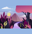 morning or night nature panorama with mountain vector image vector image