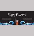moses separate sea for passover holiday over nigt vector image vector image