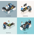 Office Isometric Icon Set vector image vector image