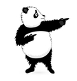 Panda Bear standing on white vector image vector image