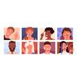people faces avatars community different vector image