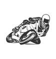 racing motorcycle design elements vector image vector image