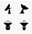 Radio telescopes vector image vector image