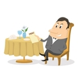 Restaurant man near table isolated vector image