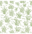 rice field green grass seamless pattern wrapper vector image vector image