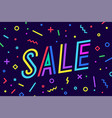 sale discount greeting card banner poster vector image vector image