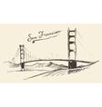 San Francisco Bridge Vintage Engraved vector image vector image