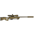 sand sniper rifle vector image vector image