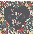 save date phrase on heart frame vector image vector image