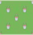 seamless pattern empty bucket background vector image