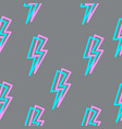 seamless texture with lightning linear vector image vector image