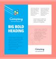 shells business company poster template with vector image vector image