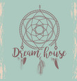 sketched dream catcher poster vector image