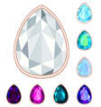 teardrop gemstone set vector image vector image
