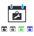 toolbox calendar day flat icon