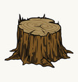tree stump colorful vintage template vector image