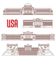 USA travel landmarks icon of architectural sights vector image
