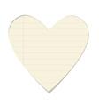 Valentine paper heart vector image vector image
