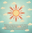 Vintage card with sun vector image vector image