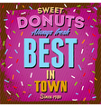 Vintage donuts poster vector image