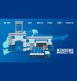 warehouse outside window production website vector image