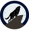 Wolf Howling To The Moon At Night vector image vector image