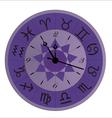 zodiac clock violet vector image vector image
