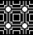 abstract art deco black geometric seamless pattern vector image