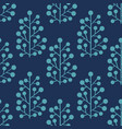 stylized plants on a blue background vector image