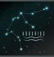 air symbol of aquarius zodiac sign horoscope vector image