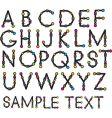 cartoon Latin alphabet vector image