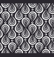 abstract pattern with black and white feathers vector image