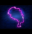 afro retro girl neon sign african woman in turban vector image