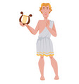 apollo greek or roman god archery music and vector image vector image