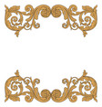 baroque ornament in victorian style vector image vector image