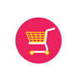 basket shopping cart - concept icon in flat graph vector image vector image