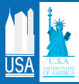 beautiful statue of liberty in new work city vector image vector image