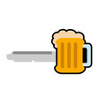 beer shaped key icon vector image vector image