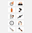 bicycle repair tools vector image