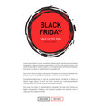 black friday sale on 25 november 2018 save tag vector image vector image