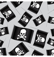 black pirate flag with skull and bones pattern vector image vector image