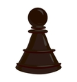 Chess pawn icon cartoon style vector image